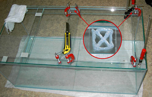 Как сделать стяжки на аквариум